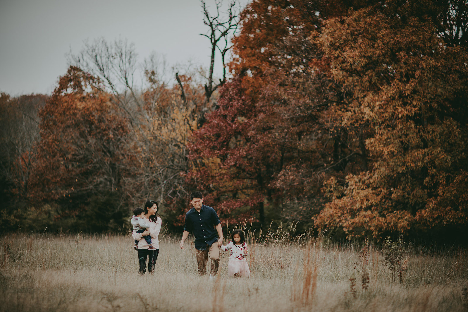 Kansas City Family photographer outdoor in field